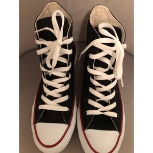 Converse High Tops with Hearts ♥️ on sides